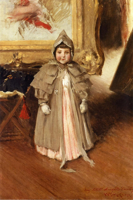 famous painting My Little Daughter Dorothy of William Merritt Chase