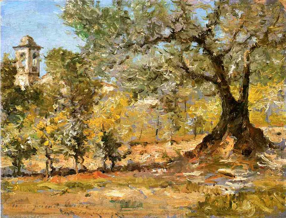 famous painting Olive Trees, Florence of William Merritt Chase