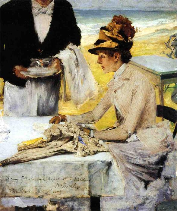 famous painting Ordering Lunch by the Seaside of William Merritt Chase