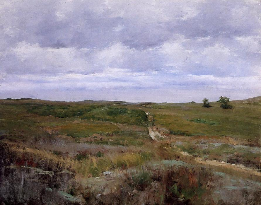 famous painting Over the Hills and Far Away of William Merritt Chase