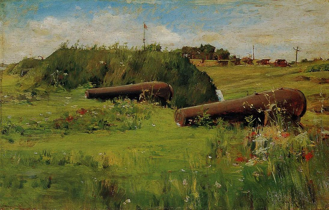 famous painting Peace, Fort Hamilton of William Merritt Chase