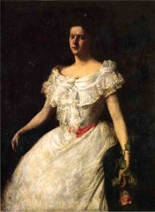 William Merritt Chase - Portrait of a Lady with a Rose