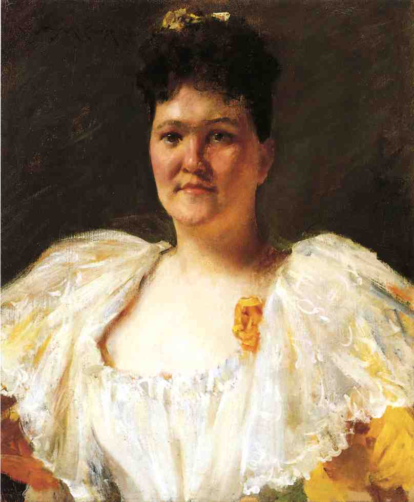 famous painting Portrait of a Woman of William Merritt Chase