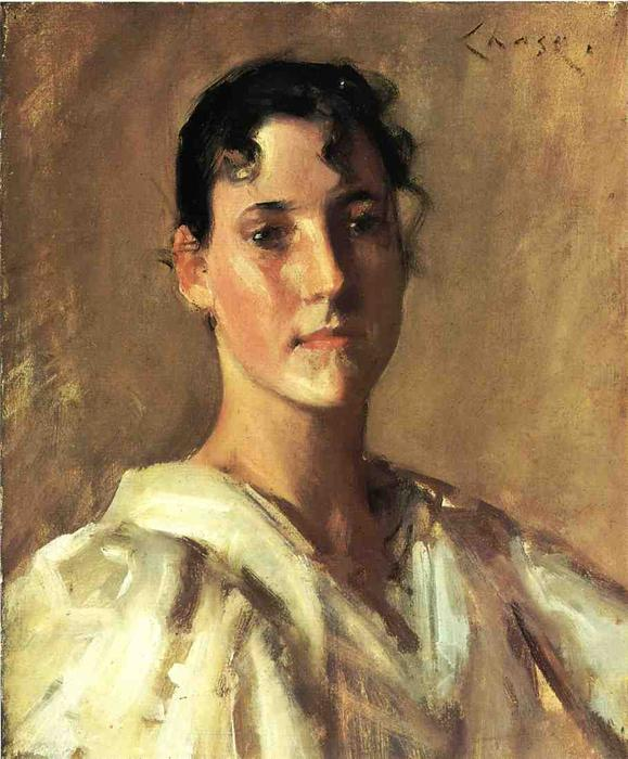 famous painting Portrait of a Young Woman 1 of William Merritt Chase