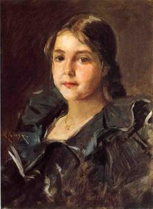 William Merritt Chase - Portrait of Helen Velasquez Chase