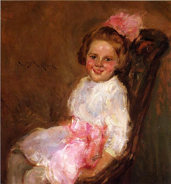 famous painting Portrait of Helen, Daughter of the Artist of William Merritt Chase