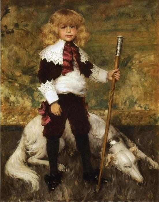 famous painting Portrait of James Rapelje Howell of William Merritt Chase