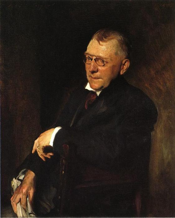 famous painting Portrait of James Whitcomb Riley of William Merritt Chase