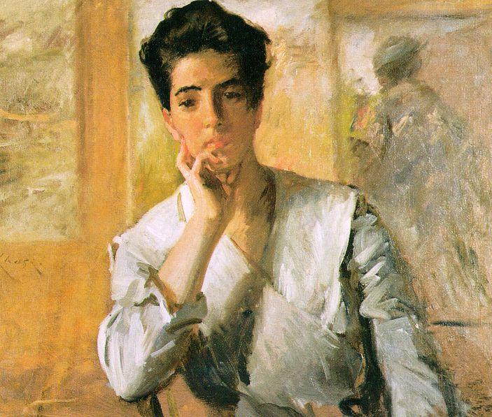 famous painting Portrait of Kate Freeman Clark of William Merritt Chase
