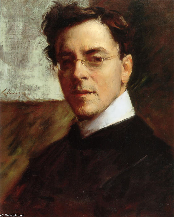 famous painting Portrait of Louis Betts of William Merritt Chase