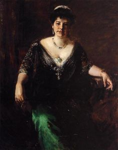 William Merritt Chase - Portrait of Mrs. William Merritt Chase