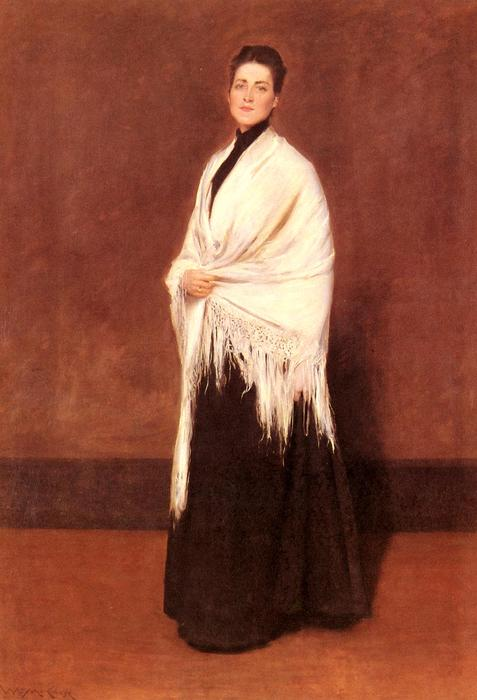 famous painting Portrait of Mrs. C. 1 of William Merritt Chase
