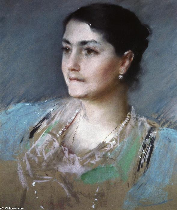 famous painting Portrait of Mrs. William Chase of William Merritt Chase