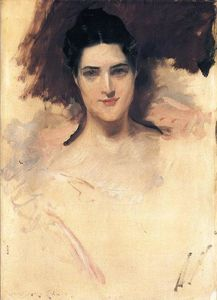 William Merritt Chase - Portrait of Mrs. William Clark