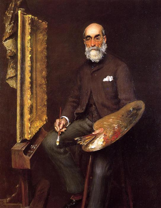 famous painting Portrait of Worthington Whittredge of William Merritt Chase
