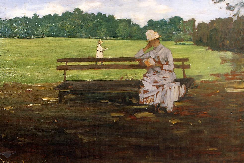 famous painting Prospect Park, Brooklyn of William Merritt Chase