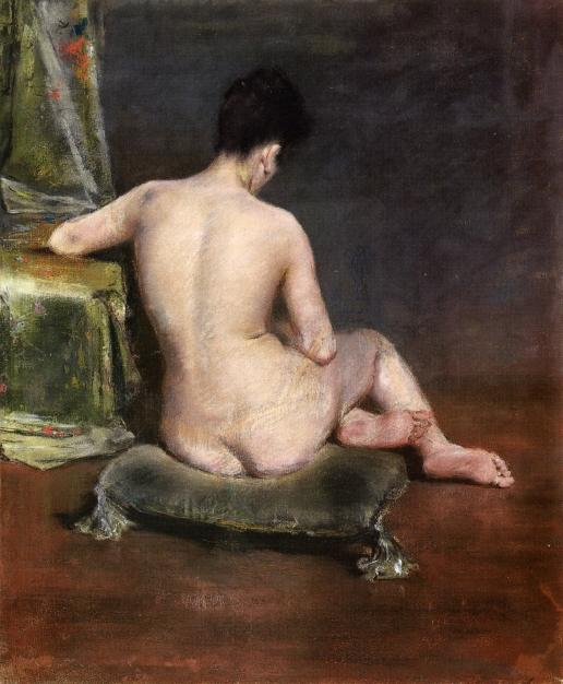 famous painting Pure (aka The Model) of William Merritt Chase