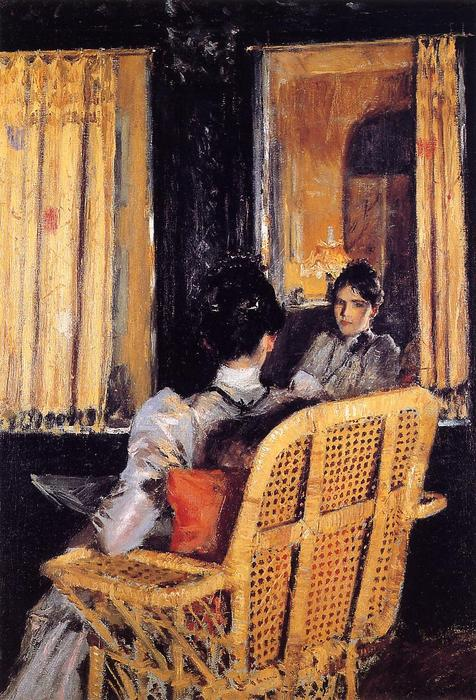 famous painting Reflection of William Merritt Chase