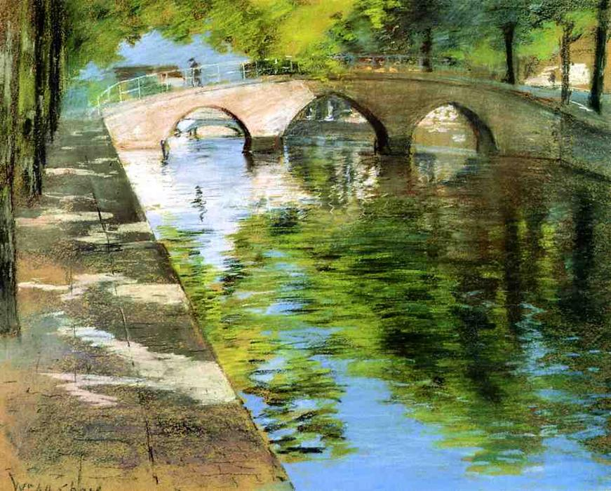 famous painting Reflections of William Merritt Chase