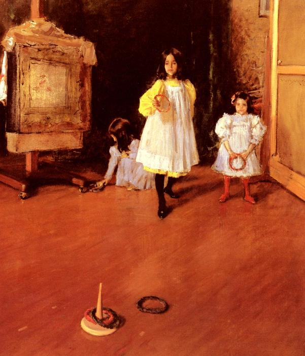 famous painting Ring Toss of William Merritt Chase