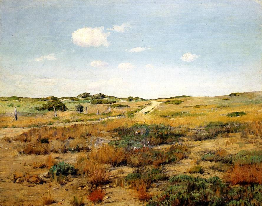 famous painting Shinnecock Hills of William Merritt Chase