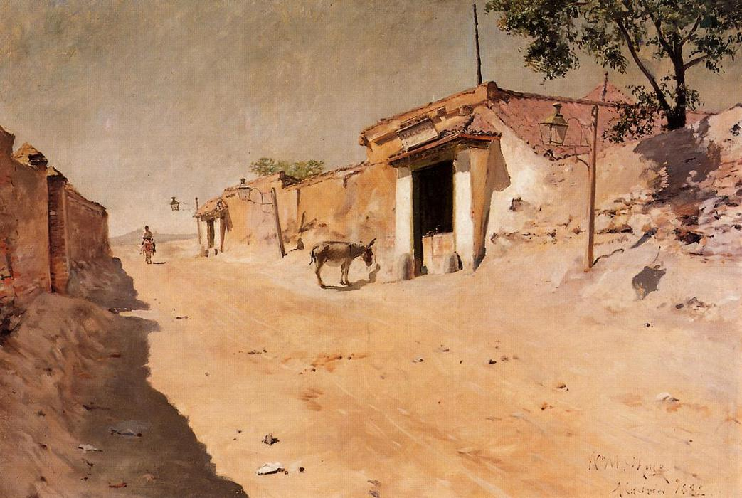 famous painting Spanish Village of William Merritt Chase
