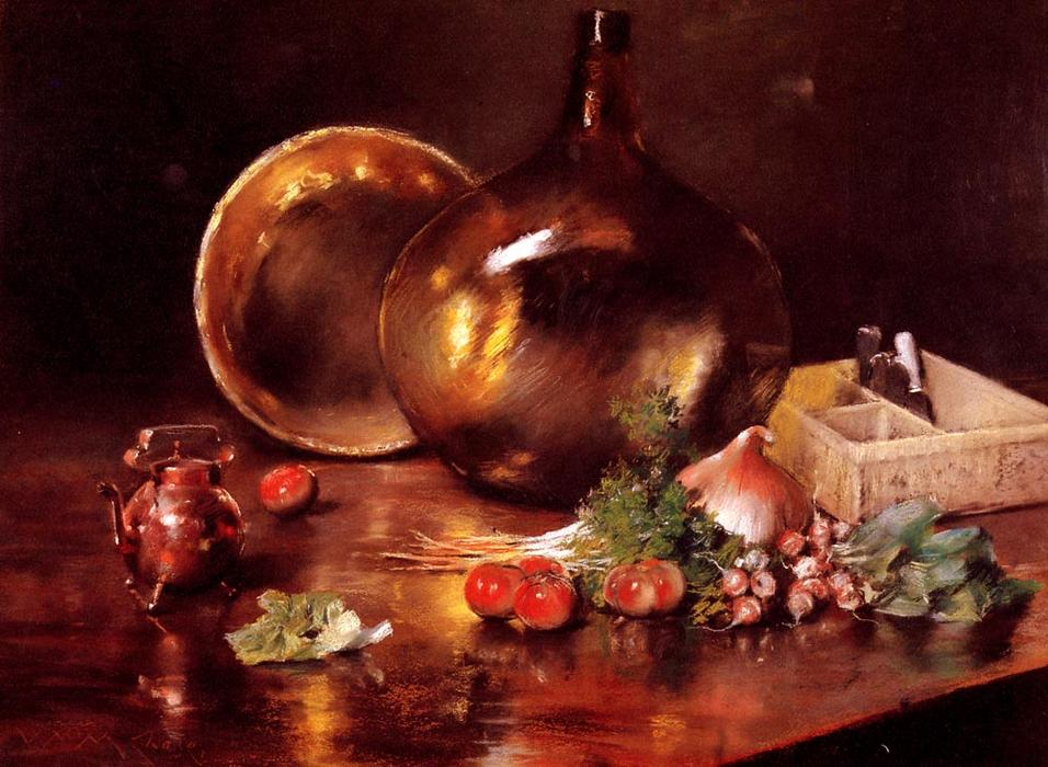 famous painting Still Life (Brass and Glass) of William Merritt Chase
