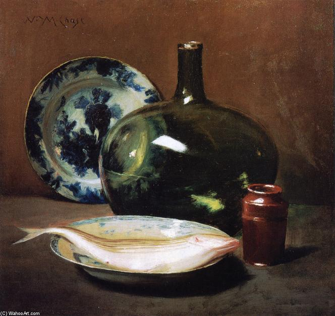 famous painting Still Life with Fish of William Merritt Chase