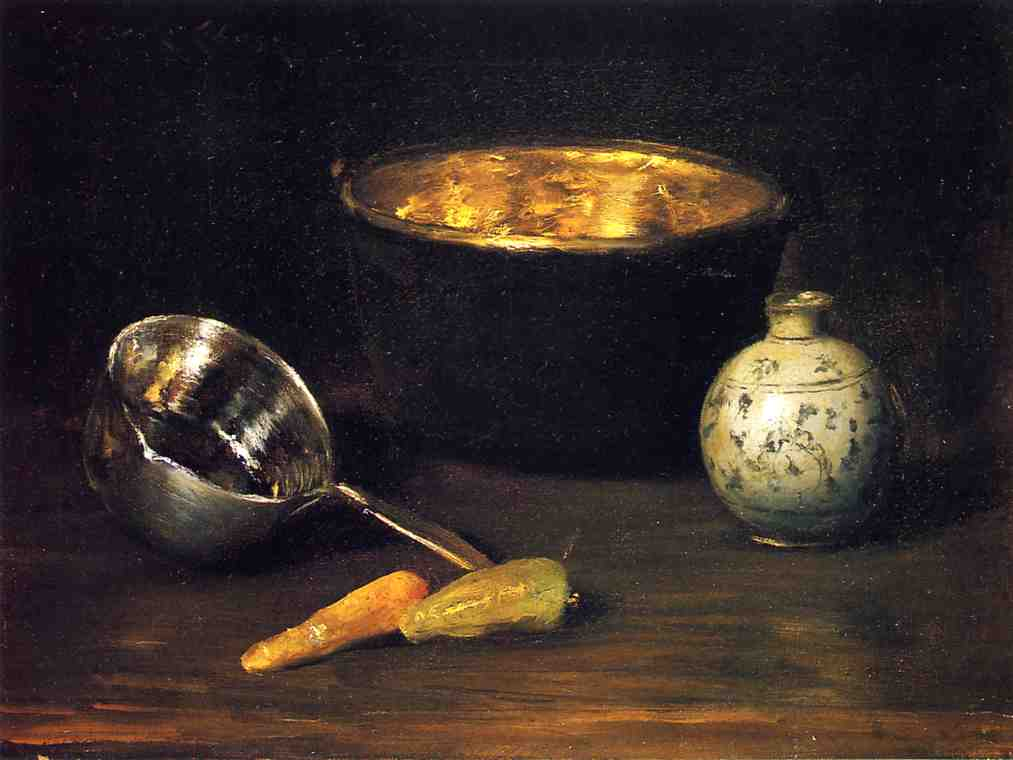 famous painting Still Life with Pepper and Carrot of William Merritt Chase