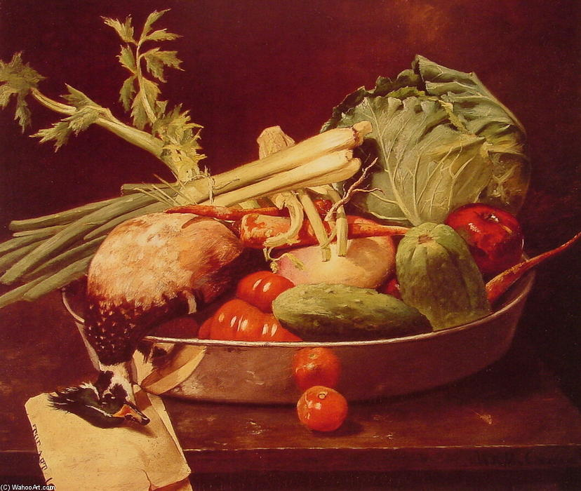 famous painting Still Life with Vegetables of William Merritt Chase