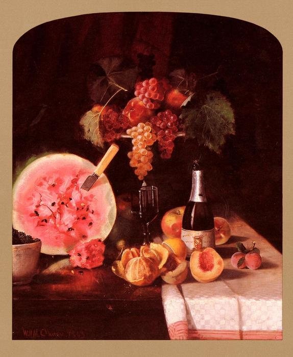 famous painting Still Life With Watermelon of William Merritt Chase