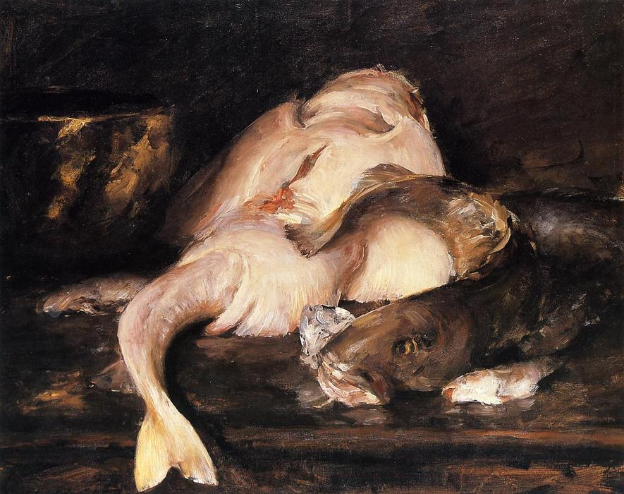 famous painting Still Life, Fish of William Merritt Chase