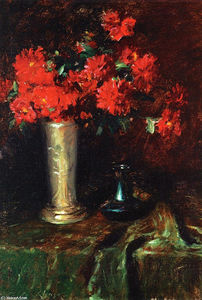 William Merritt Chase - Still Life - Flowers