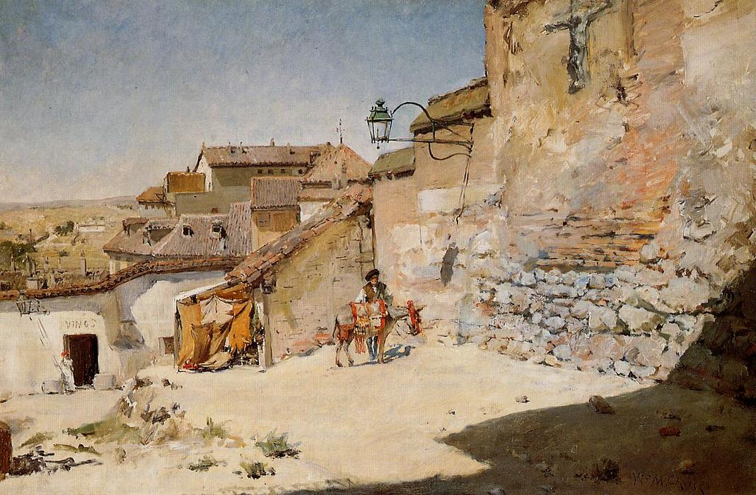 famous painting Sunny Spain of William Merritt Chase