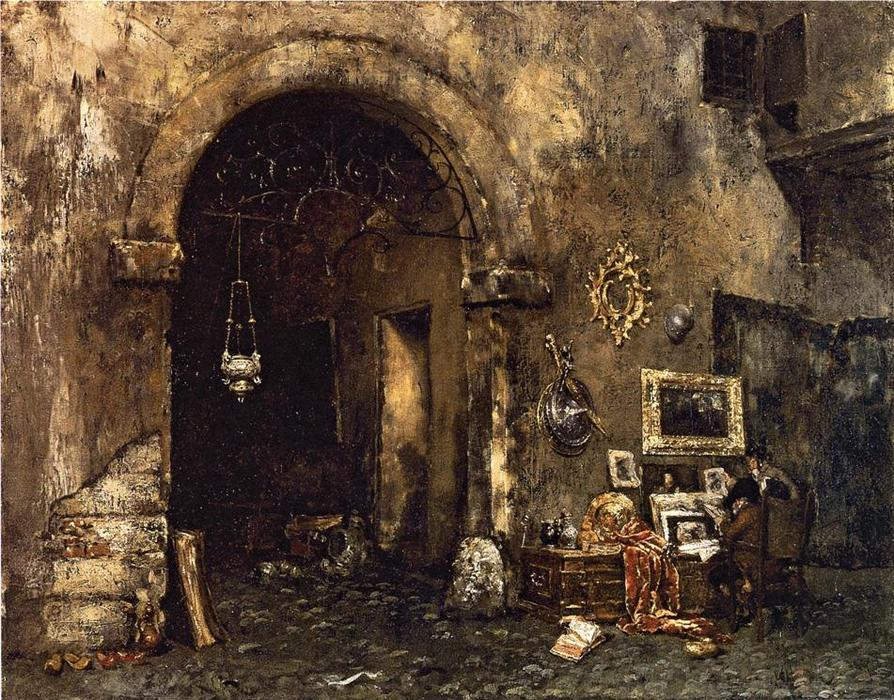 famous painting The Antiquary Shop of William Merritt Chase