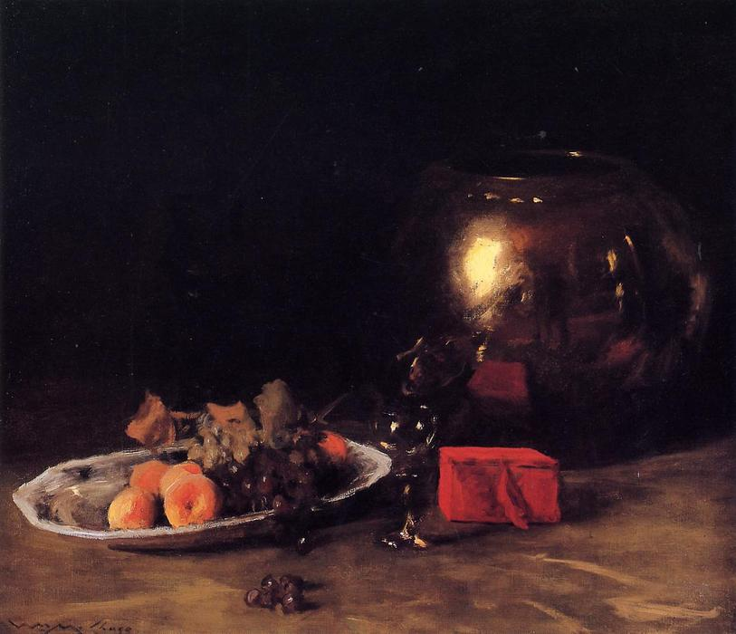 famous painting The Big Brass Bowl of William Merritt Chase