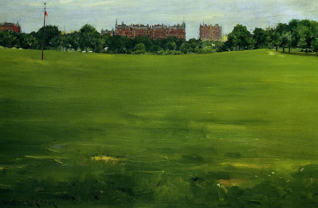 famous painting The Common, Central Park of William Merritt Chase