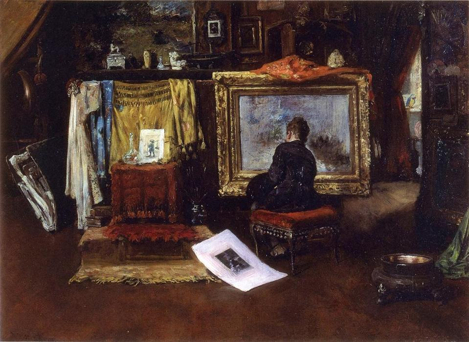 famous painting The Inner Studio, Tenth Street of William Merritt Chase