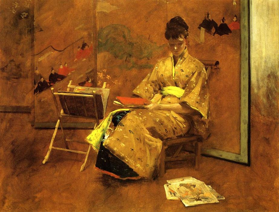 famous painting The Kimono of William Merritt Chase