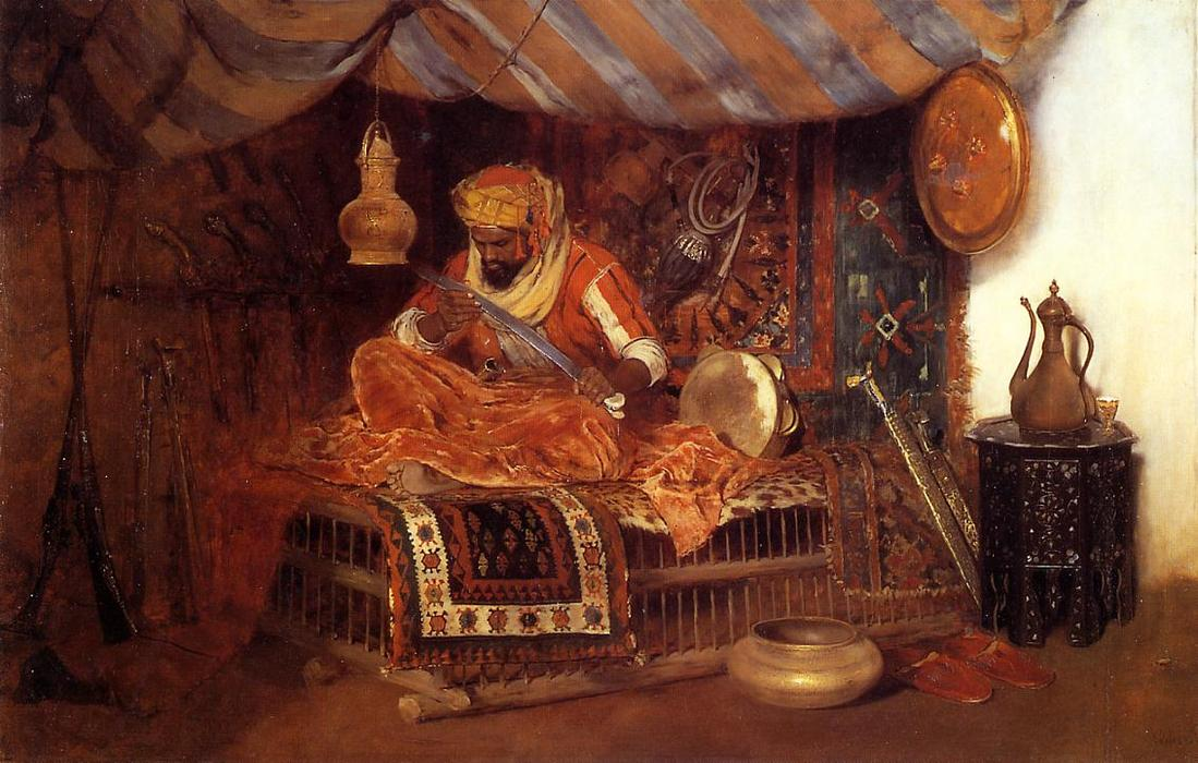 famous painting The Moorish Warrior of William Merritt Chase