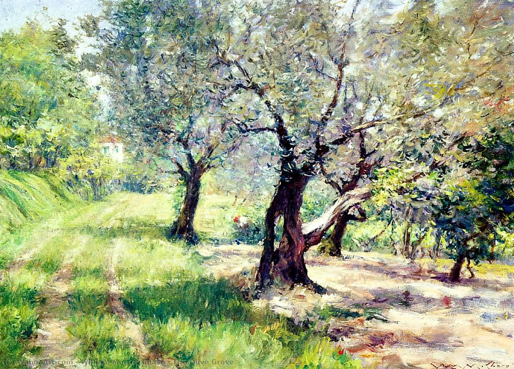 famous painting The Olive Grove of William Merritt Chase
