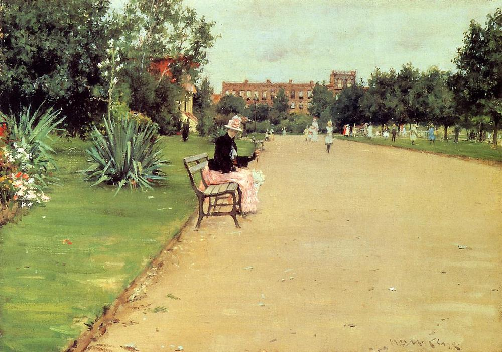 famous painting The Park of William Merritt Chase