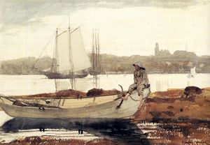 Winslow Homer - Gloucester Harbor and Dory