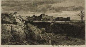 Charles François Daubigny - Ruins Of The Castle of Cremieux