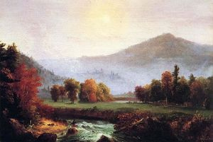 Thomas Cole - Morning Mist Rising, Plymouth, New Hampshire (A View in the United States of America in Autumn)