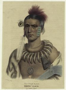 Charles Bird King - Ma-Has-Kah or White Cloud. an Ioway chief