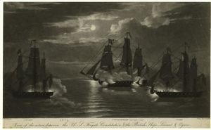 Thomas Birch - View of the action between the U.S. frigate Constitution & the British ships Levant & Cyane