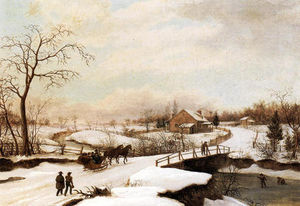 Thomas Birch - Winter Landscape