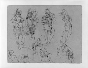 Thomas Sully - Nine Figures in Military Dress