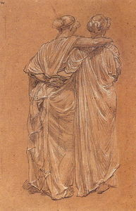Albert Joseph Moore - Study of Two Female Figures
